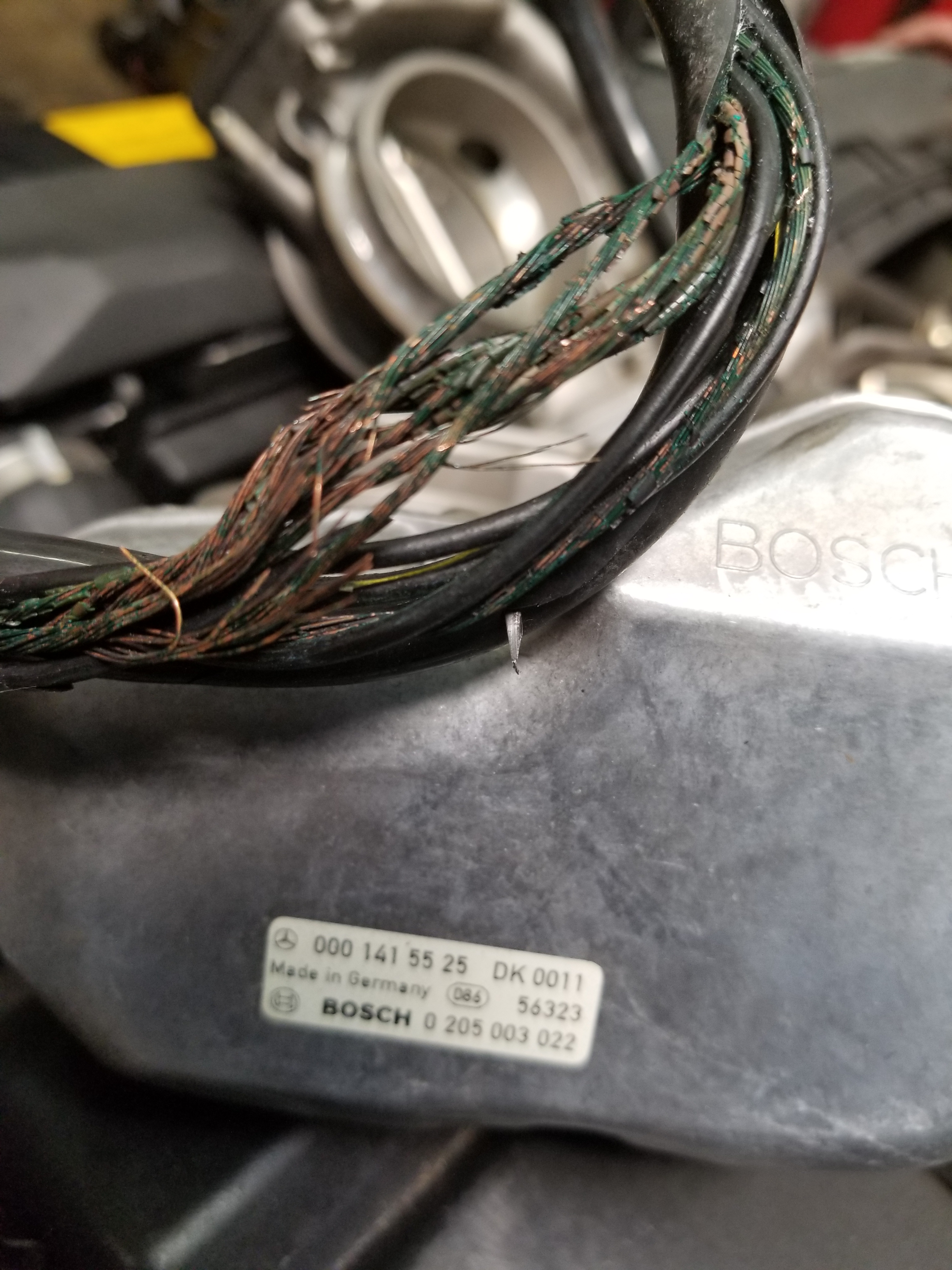 another mercedes w129 600sl wire harness re-wire | jason's ... wire harness space